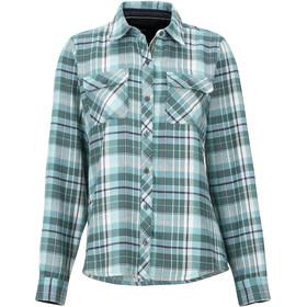 Marmot Bridget Midweight Flannel LS Shirt Women, mallard green